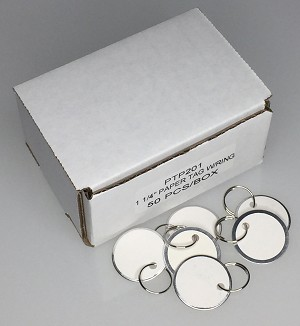 "Paper Tag w/Ring - 1 1/4"" - 50/Box"