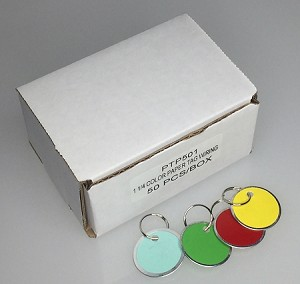 "Colored Paper Tags w/Ring - 1 1/4"" - 50/Box"