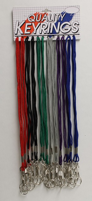 Lanyards - Cord Style - REGULAR COLOR ASSORTMENT - 24/Card