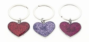 Sparkle Heart Key Tag - Bulk