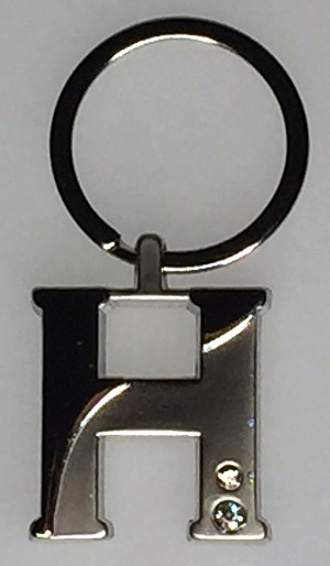 Two-Tone Initial Key Tag - H - 1/Poly Bag