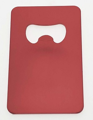 Credit Card Shape Bottle Opener - Red