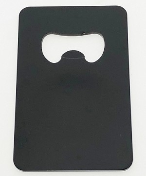Credit Card Shape Bottle Opener - Black